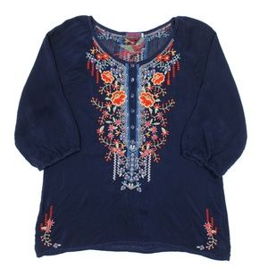 Johnny Was C79666-2 Cupra Embroidered Tunic